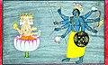 Brahma see cosmic form of vishnu from Bhagavata purana series by Manaku.jpg