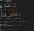 Brainfuck to C translator in Unix TMG.png