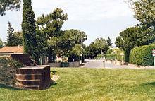Plan représentant des espaces verts aménagés sur et autour d'un rond-point.