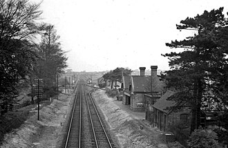 Branston and Heighington railway station - The station in 1961