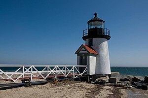 National Register of Historic Places listings in Nantucket County, Massachusetts - Image: Brant Point Light, oblique