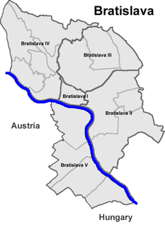 Boroughs and localities of Bratislava