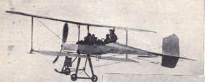 Breguet Type IV - Breguet and around 10 passengers above the airport of Douai in March 1911
