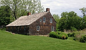 Setauket-East Setauket, New York - The c. 1665 Brewster House is the oldest existing structure in the Town of Brookhaven. During the Revolutionary War, it housed a tavern where British occupiers were entertained