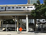 Brickell metro station from ground level 2016-08.jpg