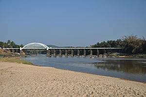 Thirthahalli - Bridge across the river Tunga at Thirthahalli
