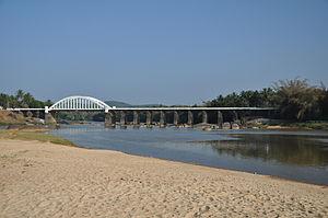 Thirthahalli - Bridge across the river Tunga at Thirthahalli