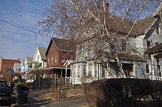 National Register of Historic Places listings in Bridgeport, Connecticut - Image: Bridgeport CT Bassickville HD Howard Ave