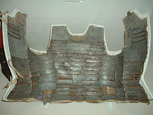 Brigandine - Inside view of an Italian brigandine (c1470).