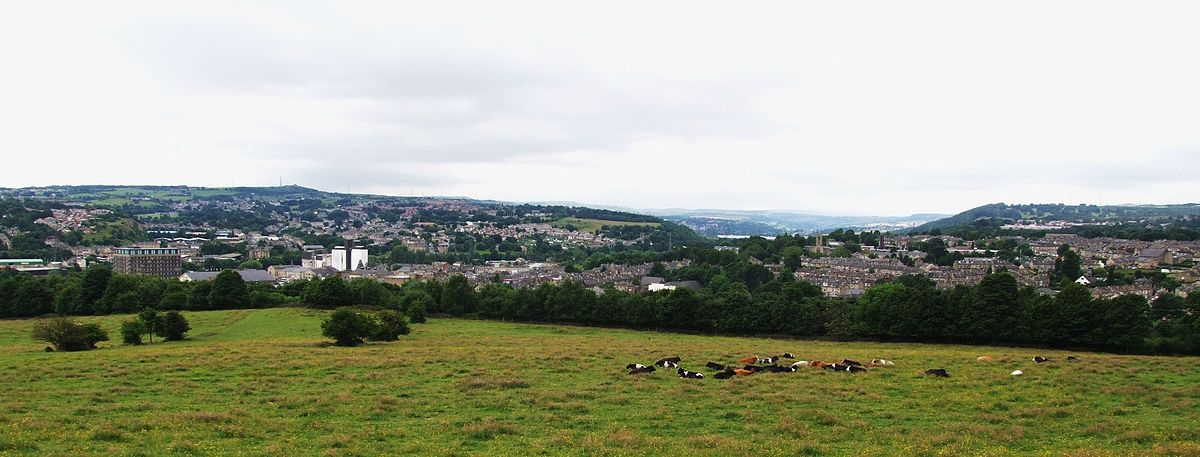 Brighouse, viewed from Thornhills Lane, Clifton Brighouse & Rastrick, viewed from Thornhills Lane,UK,(RLH).JPG