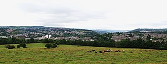 Brighouse - Brighouse, viewed from Thornhills Lane, Clifton