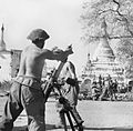 British mortars in action during the fighting for Meiktila in Burma, 28 February 1945. SE3281.jpg