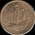British pre-decimal halfpenny 1967 reverse.png
