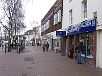 Bromsgove High Street showing Cancer Research Shop - geograph.org.uk - 1102004.jpg