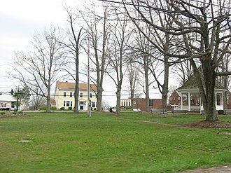 Brookfield Township, Trumbull County, Ohio - The village green at Brookfield Center