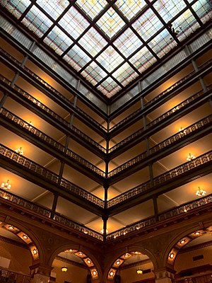 Brown Palace Hotel (Denver, Colorado) - Image: Brown Palace Hotel Atrium Balconies