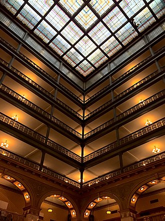 Brown Palace Hotel (Denver, Colorado) - Image: Brown Palace Hotel Atrium Balconies