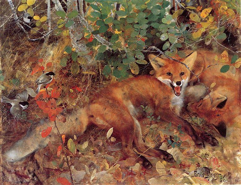 File:Bruno Liljefors - Foxes.jpg