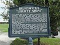 Brunswick's Liberty Ships historical marker.JPG