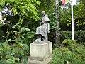Bucuresti, Romania, Muzeul Theodor Pallady, (Casa Melik), Str. Spatarului nr. 22 (statuia lui Theodor Pallady in gradina 1); B-II-m-A-19723.JPG