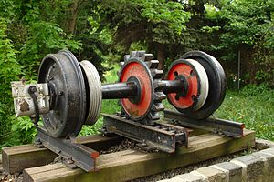 Rack and pinion - Rack railway axle