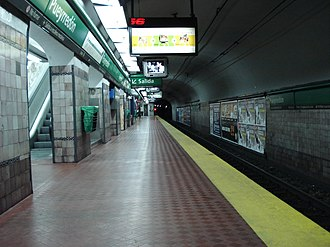 Pueyrredón (Line D Buenos Aires Underground) - Image: Buenos Aires Subte Linea D Estacion Pueyrredon