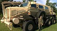 Buffalo mine-protected vehicle and GI