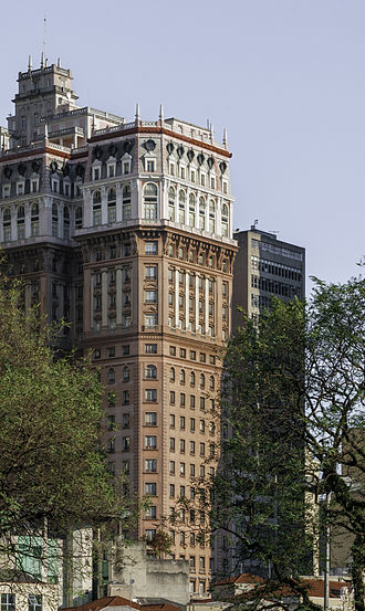 Martinelli Building was the first skyscraper of Latin America and the tallest until 1947. Building in Sao Paulo 06.jpg