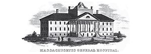 History of general anesthesia - The Bulfinch Building, home of the Ether Dome