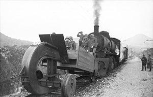 Railroad plough - German railroad plough in Italy (1944)
