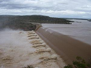 Geography of Queensland - Burdekin Dam is Queensland's largest reservoir, 2007