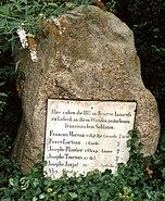 Burgthorfriedhof Lübeck, memorial to Franco-Prussian War