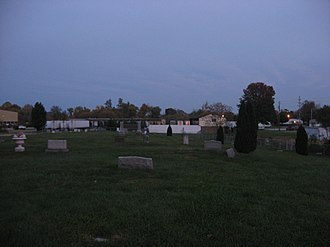 National Register of Historic Places listings in Lawrence County, Ohio - Image: Burlington 37 Cemetery