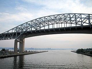 Burlington Bay James N. Allan Skyway bridge in Canada