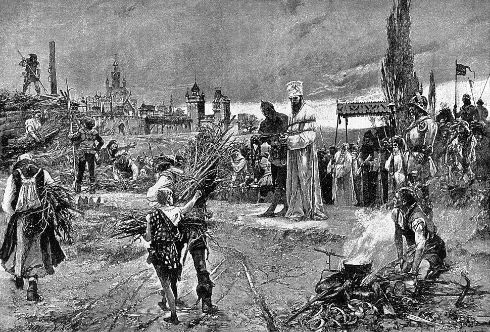 Burning of jan hus at the stake at council of constance