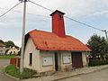 Bus stop in Vlčatín, Třebíč District.JPG