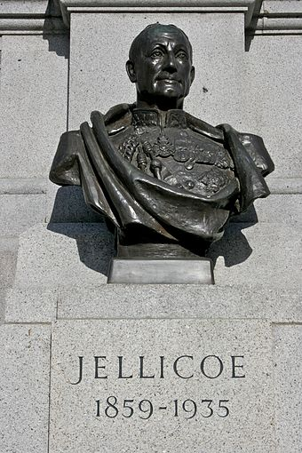 Bust in Trafalgar Square. Bust of Jellicoe in Trafalgar Square.jpg