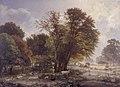 C.F. Aagaard - Efterårsmorgen i Jægersborg Dyrehave - KMS845 - Statens Museum for Kunst.jpg