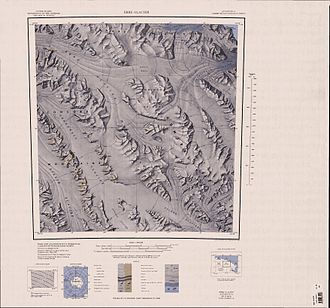 Ebbe Glacier - 1:250,000 scale topographic map of the Ebbe Glacier and parts of the Admiralty Mountains.