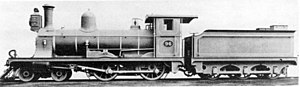 CGR 3rd Class 4-4-0 1889 - Image: CGR 3rd Class 4 4 0 1889 no. 96