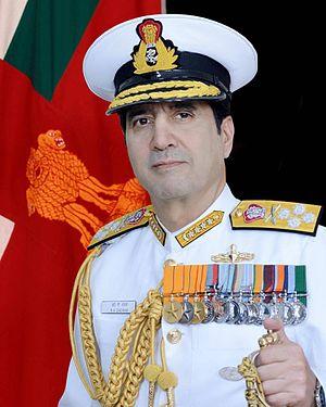 Robin K. Dhowan - Official Indian Navy portrait of Adm Robin K Dhowan, CNS