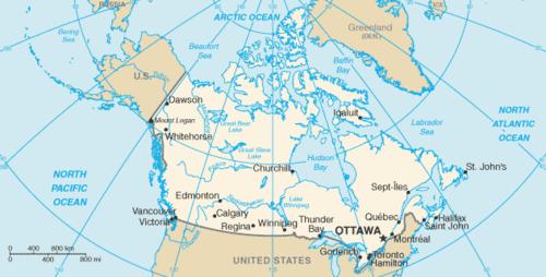 Kanada siyasi haritası