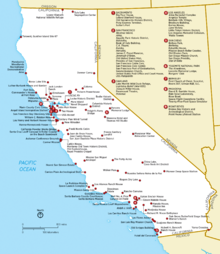 Liste Der National Historic Landmarks In Kalifornien Wikipedia - National landmarks map