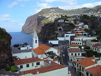 Câmara de Lobos - The main settlement of Câmara de Lobos, and first area settled by colonists to this area
