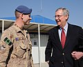 Canadian Maj. William M. Church and U.S. Sen. Mitch McConnell talk during a tour (4278140647).jpg