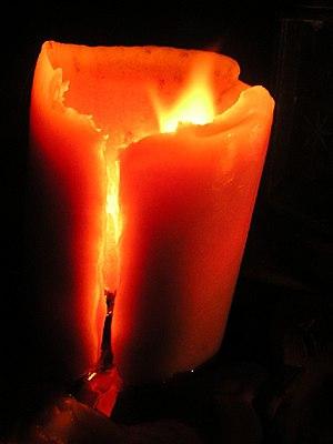 Burning candle