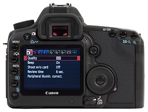 Canon EOS 5D Mark II - Back of the camera with LCD