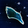 Canton Island, a coral reef atoll