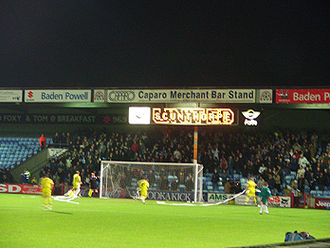 Glanford Park - Away supporters in the AMS Stand.