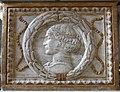 Cappella degli antenati, elefanti malatestiani e dado con stemmi e ritratto s.p. malatesta, dx 02,4..JPG